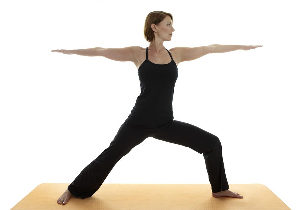 Yoga Asana - Warrior Pose II, Virabhadrasana II