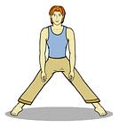 warrior pose2, step 1