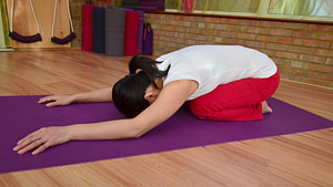 Childs Pose, Balasana - yogalily.com