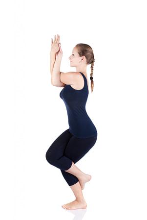 Yoga, garudasana, eagle pose