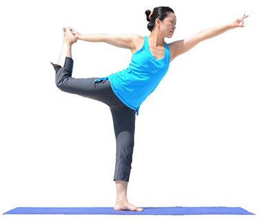 Standing Half Bow Pose, Utthita Ardha Dhanurasana as a counter pose to Wide Leg Forward Bend