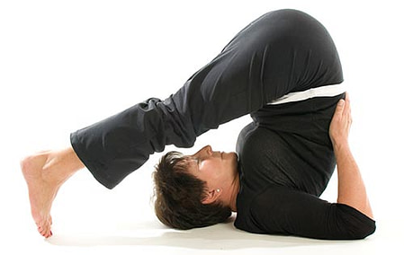 """""""If your toes don't reach the floor, then keep your palms on your lower back"""""""