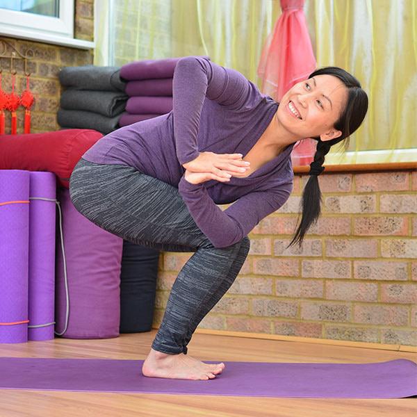 Parivrtta Utkatasana, Revolved Chair Pose – yogalily.com
