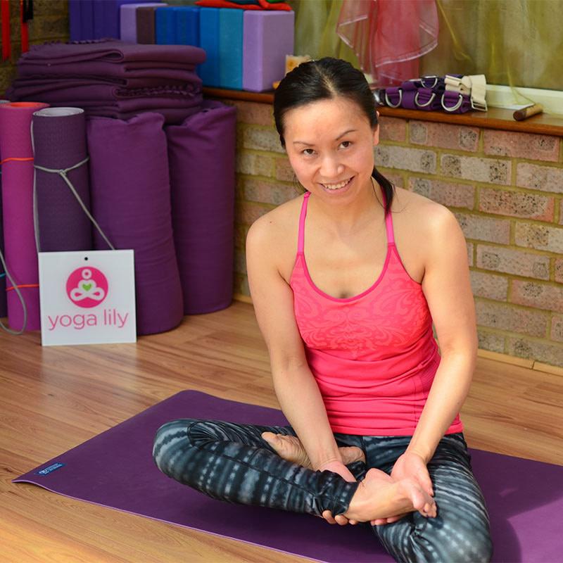 Padmasana, Lotus Posture step 3a
