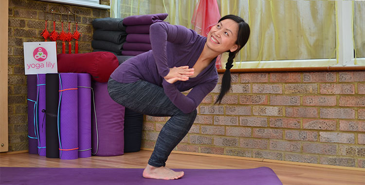 Parivrtta Utkatasana, Revolved Chair Pose